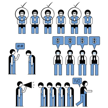 business people in office concept Vector