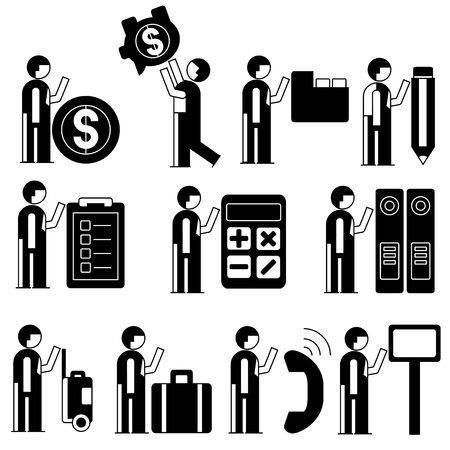 office people: office people set Illustration