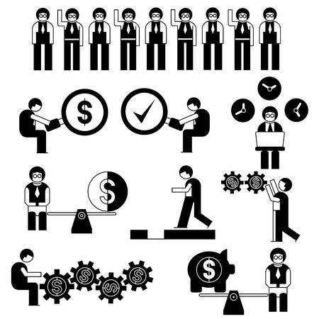 business people with management concept set Vector