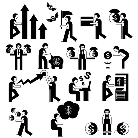 people with money concept Vector