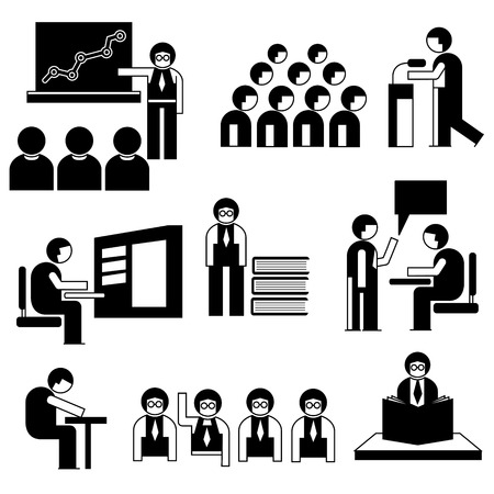 student and people in conference situations Vector