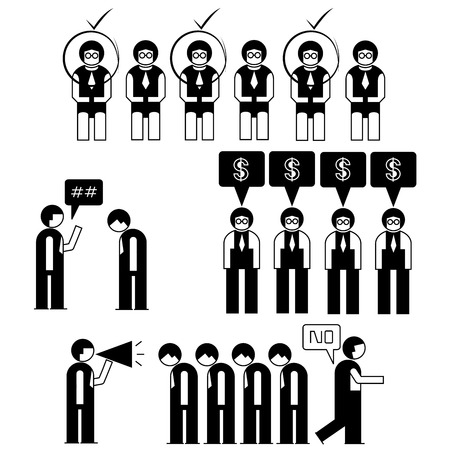 office business people set Vector