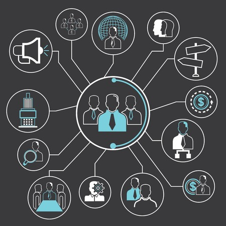teamwork and organization concept Vector