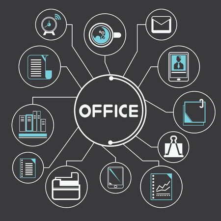 office supply concept Vector