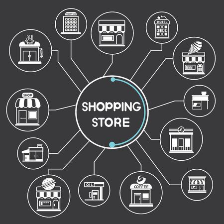 market place: shopping store concept Illustration