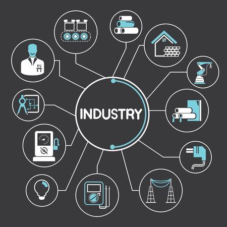 産業とエネルギーの概念  イラスト・ベクター素材