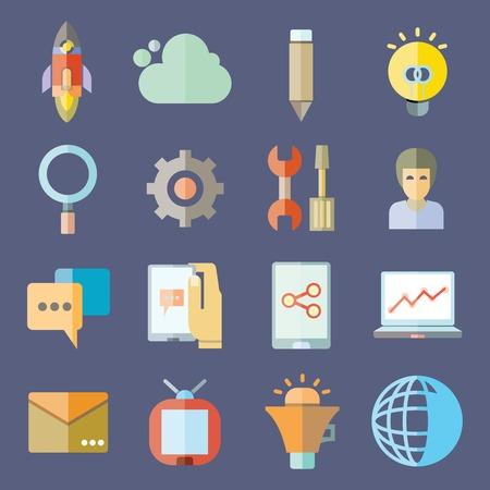 emprendimiento: inicia web de iconos
