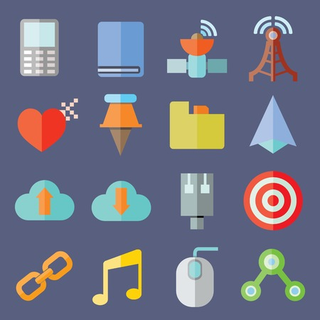sattelite: web and web icons Illustration