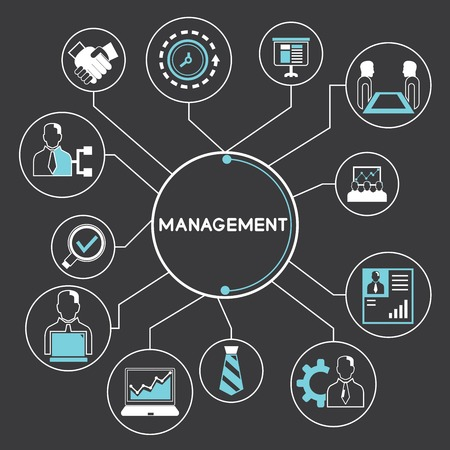 management and corporation concept Vector