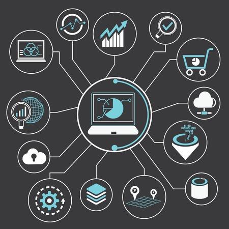 Big Data-Analyse-Konzept