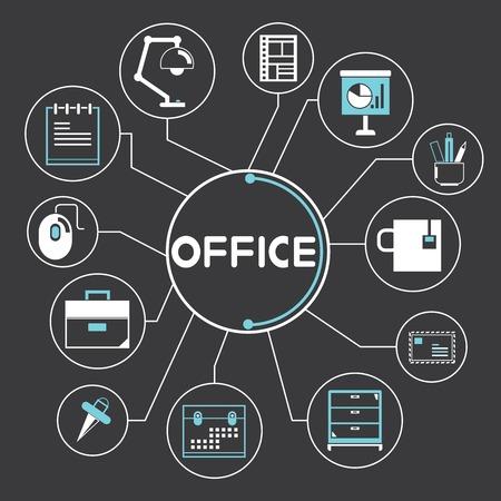 office supplies concept Vector