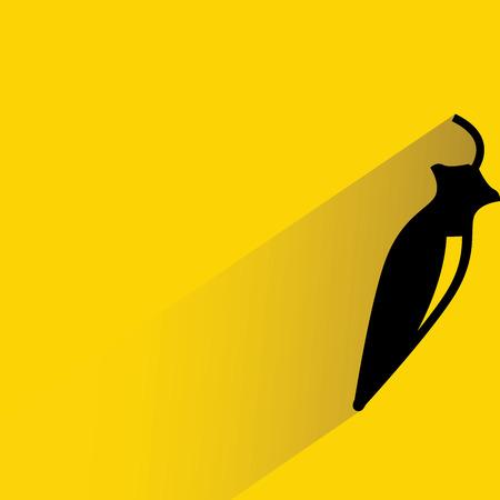 peper: paprika on yellow Illustration