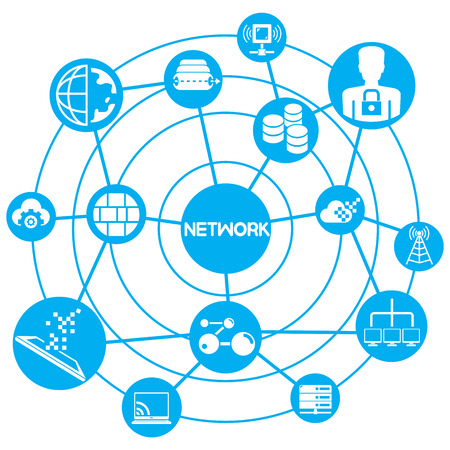 ethernet: internet and network concept