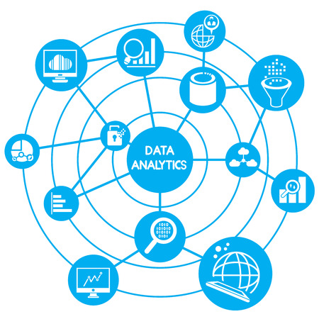 big data analytics concept Vector