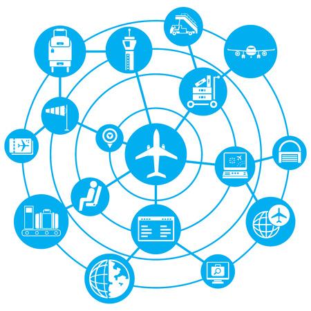airport concept diagram Vector