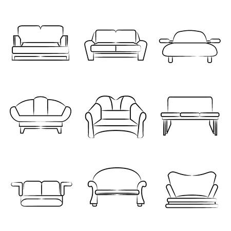 Sessel skizze  Skizze Sofa, Sessel Symbole Lizenzfrei Nutzbare Vektorgrafiken ...