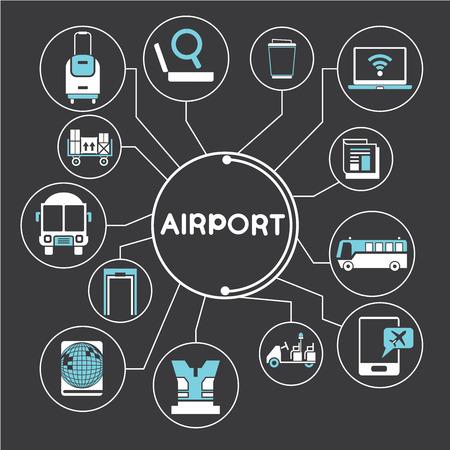 flight board: airport