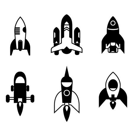 rocketship: rocket icons