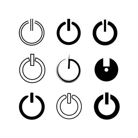 shut down: reset button, start buttons Illustration