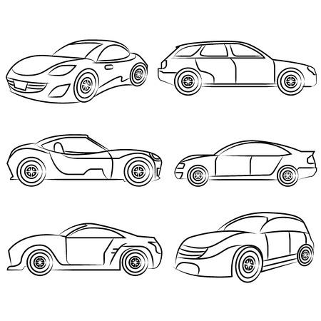 Auto, Zeichnung Linie