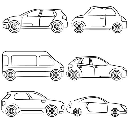 car, drawing line