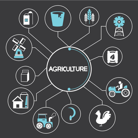 agriculture industry: agriculture elements Illustration