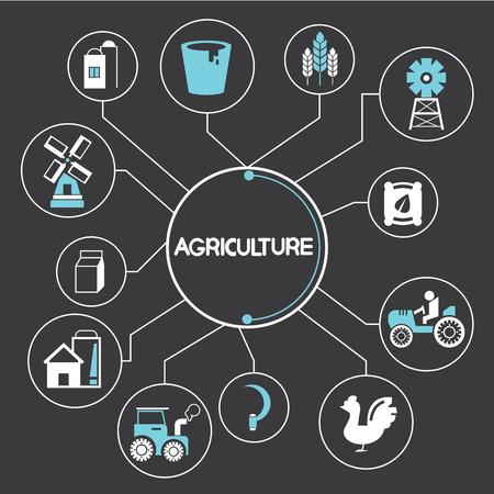 agriculture elements Illustration