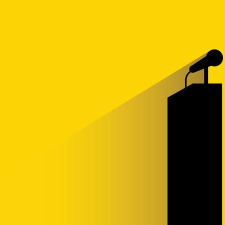 public speaker: podium