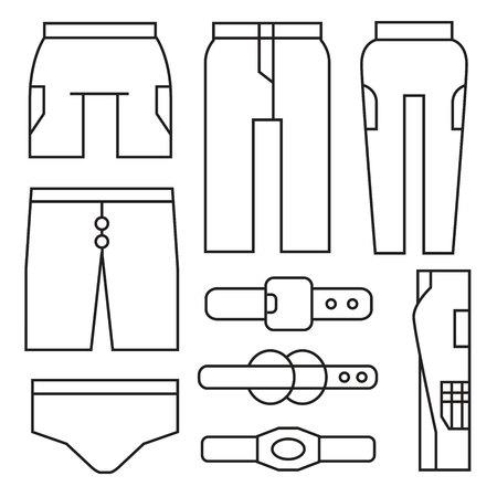 stride: pants, cloth Illustration