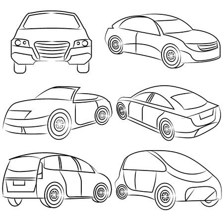 lifelike: car, drawing line