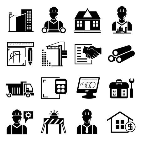 construction management: construction project icons