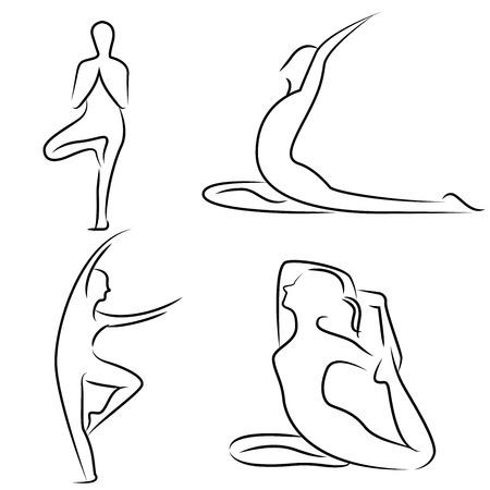 stylized design: yoga