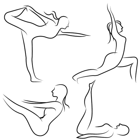 flexible woman: yoga