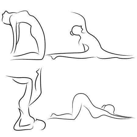 relaxing: yoga
