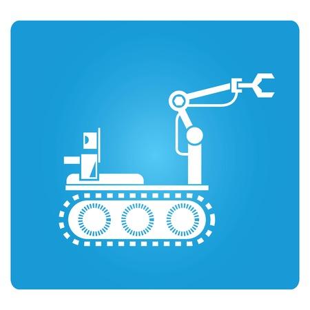 rescue robot Vector