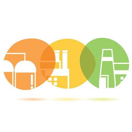 civic: building concept, building buttons