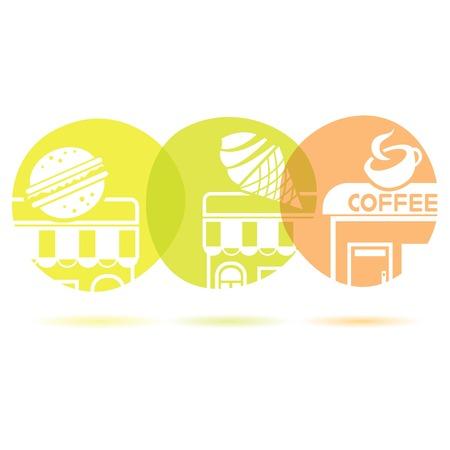civic: food shop concept Illustration