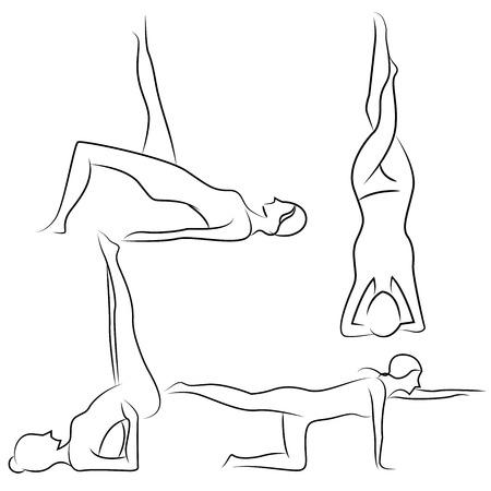 posture: yoga posture Illustration