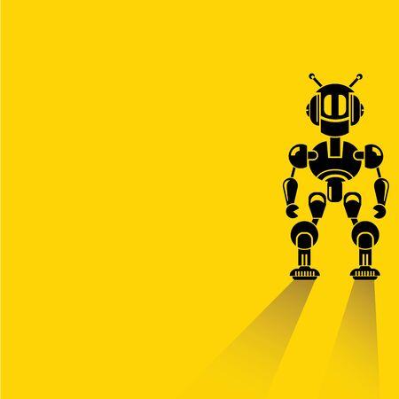 flat iron: robot, cartoon robot