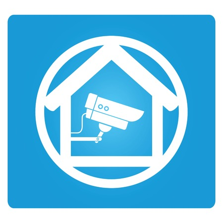 guard house: cctv in home Illustration