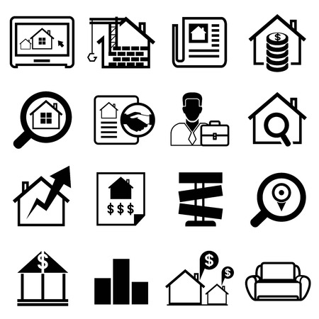 real estate agent icons Vector
