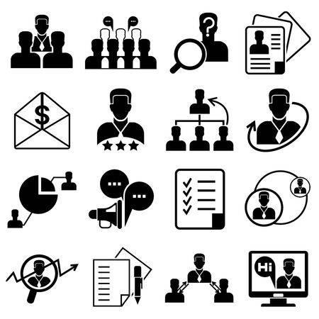 allocation: business management icons Illustration