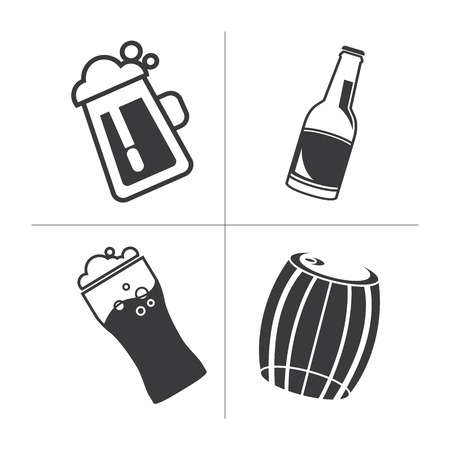 intoxicant: beer icons Illustration