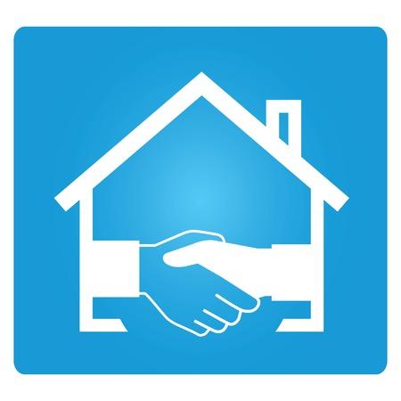 estate agent: real estate agent Illustration