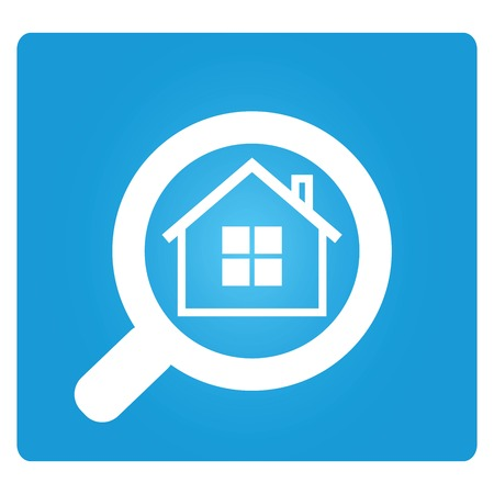 magnifying glass to enlarge the house