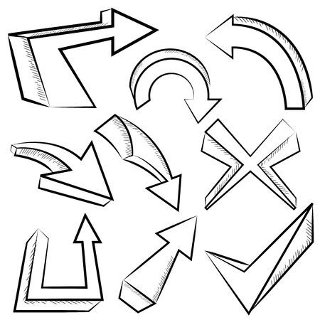 lefthand: doodle arrows