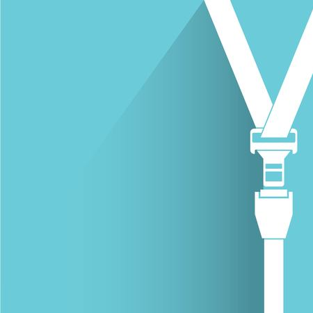 seatbelt: seat belt, safety belt Illustration