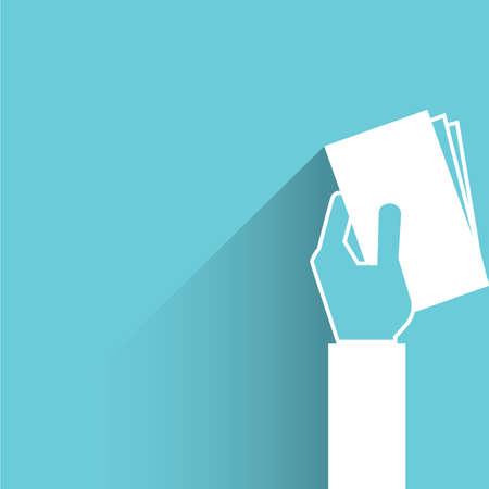 hand holding paper: hand holding bank Illustration