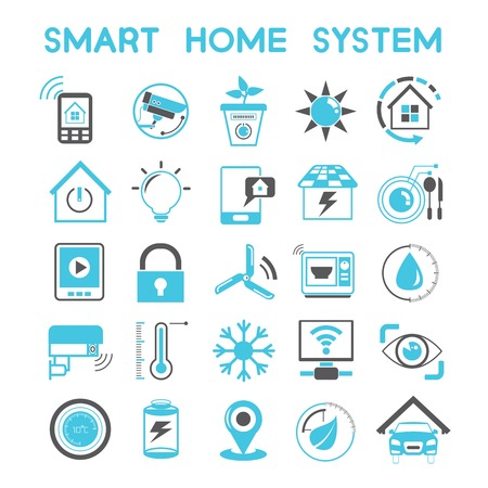 solar power station: home automation icons
