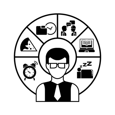 human resource affairs: schedule, personal management Illustration